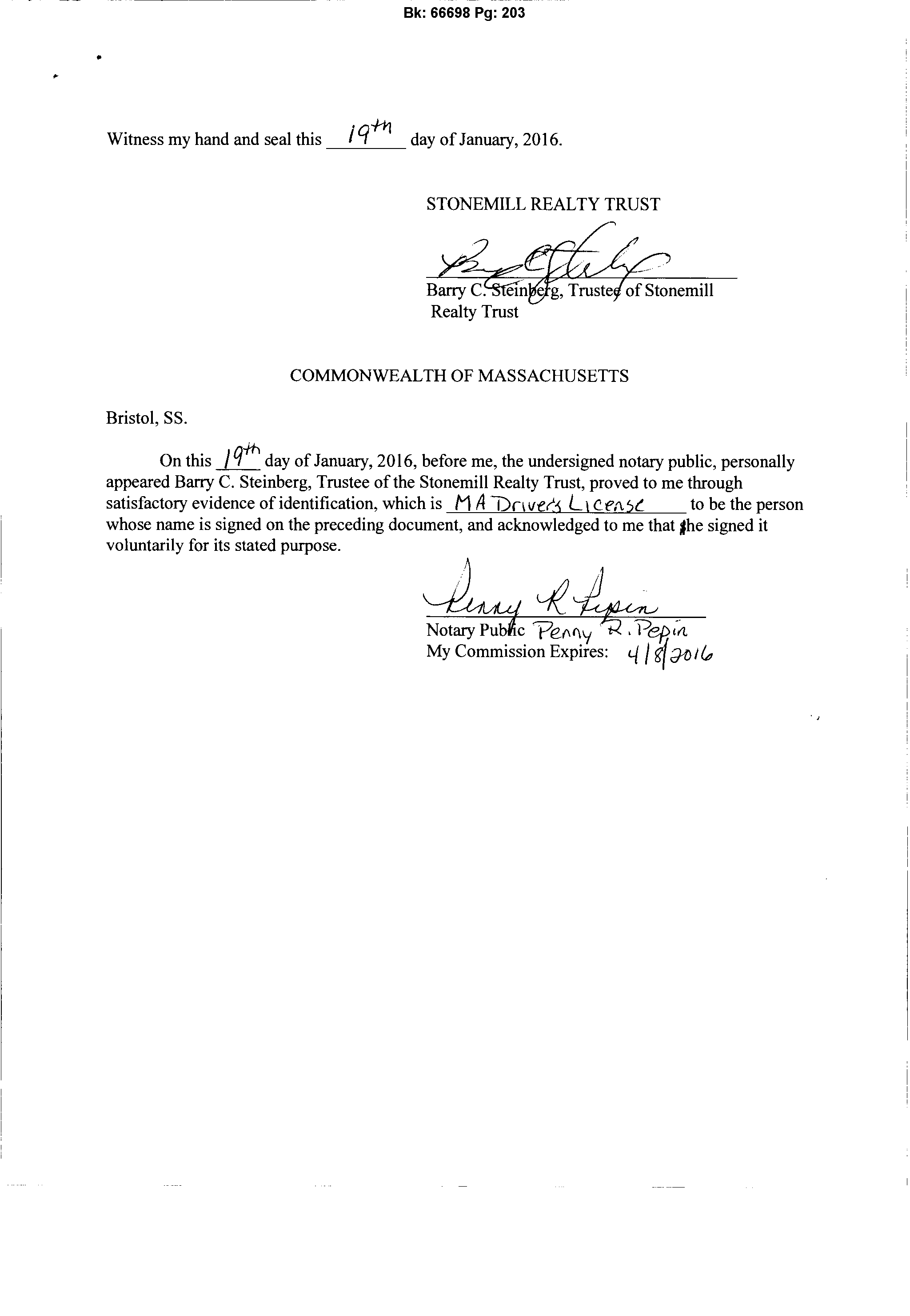 MA DHCD LIP Application Signed Letter from Construction